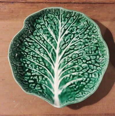 Fabulous Vintage Secla Majolica Cabbage Pottery Plate.Perfect Rare Vintage Find.