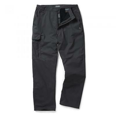 Brand New Craghoppers Winter Lined Mens Trousers Black Pepper Size 36L Rrp £40