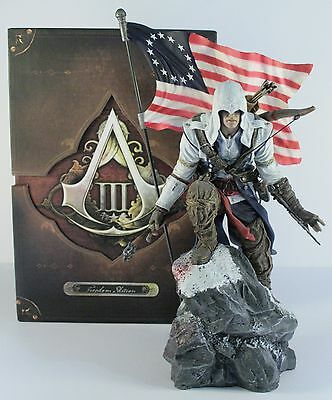Connor Statue and Box from Assassins Creed 3 Freedom Edition *No Game*