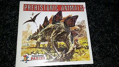Vintage Panini Prehistoric Animals Album 1977 over 100 Stickers Attached