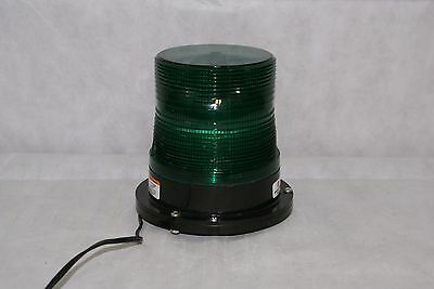 Federal Signal Pulsator 551 Plus Green Emergency Beacon Light Dome Magnetic