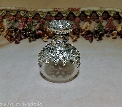 VICTORIAN WILLIAM COMYNS SILVER SCENT BOTTLE Antique Perfume Bottle Hardy Bros