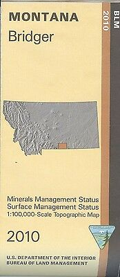 USGS BLM edition topographic map BRIDGER Montana 2010 surface + mineral