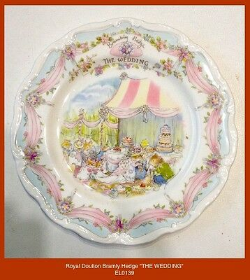 "Royal Doulton BRAMBLY HEDGE ""THE WEDDING"" 8.0 inch PLATE - JILL BARKLEM"