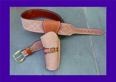 CLINT EASTWOOD Western Cowboy HOLSTER RIG - Rough Out Leather - Good Bad Ugly