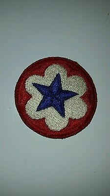 Vintage Military Patch Round Red And White With A Blue Star