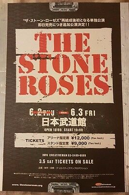 THE STONE ROSES Cancelled  TOKYO  concert Flyer 2 shows