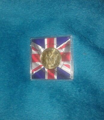 Collectors coin in case