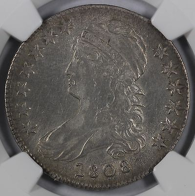 1808 50C Capped Bust Half Dollar NGC XF Details Improperly Cleaned