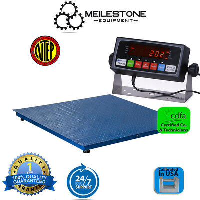 New NTEP 5000lb/1lb 5x5 Pallet Floor Scale w/ Indicator Legal 4 Trade Free Ship