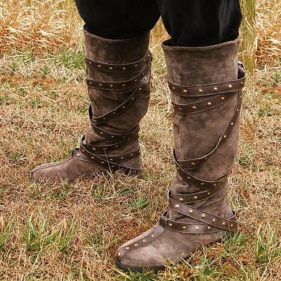 #2 Warrior Boots - Brown Suede Quality Costume Footwear Perfect For Re-enactment