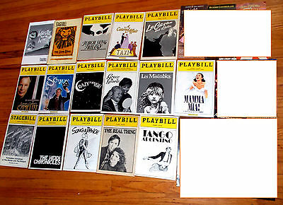 16 Lot Broadway Musicals Playbills & Flyers Whistle Down the Wind rare