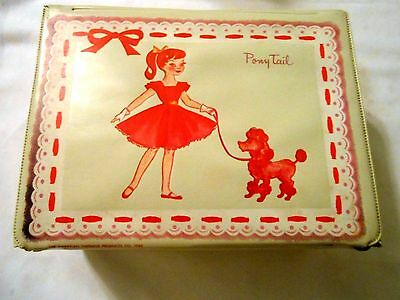 Vintage  1960 Poodle Ponytail Lunchbox  Adorable See Pics