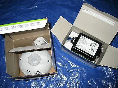 Leviton OSC20-M0W Ceiling Mounted Occupancy Sensor and OSP20-D0 Power Pack NEW