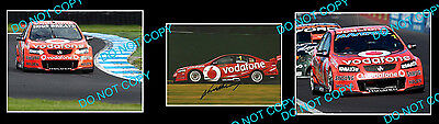 Jamie Whincup V8 Supercar Motor Racing Handsigned Photo +2 Photos