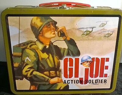 Vintage 1997 G.i. Joe Action Soldier Metal Lunch Box W/(Snack Mix) Hasbro