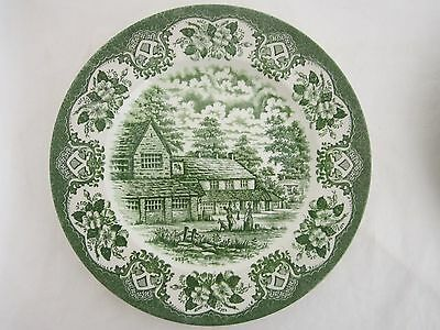 OLD INNS SERIES ENGLISH IRONSTONE TABLEWARE COTTAGE INN SCENE 22cm Plate
