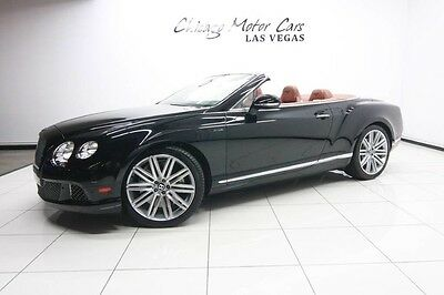 2014 Bentley Continental Flying Spur GTC Speed Convertible 2-Door 2014 Bentley Continental GT Speed Convertible Contrast Stitching Perfect