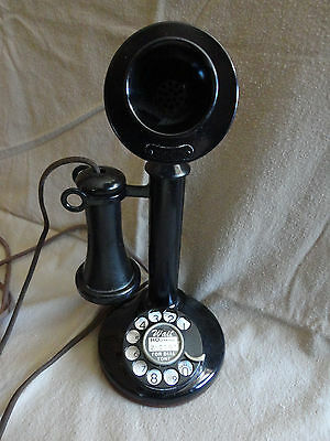 Western Electric Model 50AL Party Line Candlestick Phone - 2AE dial