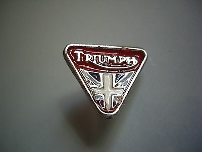 Vintage Triumph Motorcycle Jacket Pin Classic Factory Emblem Dealership Badge