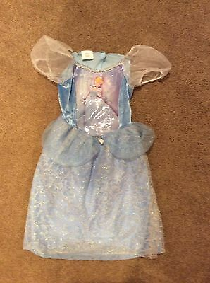 Disney Princess Cinderella Girls Light Blue Costume Dress 4-6x