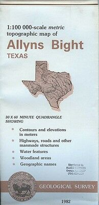 US Geological Survey topographic map metric ALLYNS BIGHT Texas