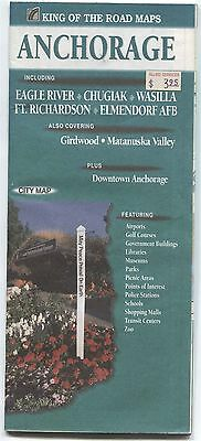 King of the Road Maps ANCHORAGE Alaska city map - 1997