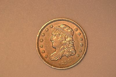 1836 Capped Bust Half Dime- Nice AU with one obverse mark in Liberty's cheek.