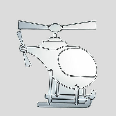 Helicopter acrylic mirror,  home childrens bedroom / playroom wall shatterproof