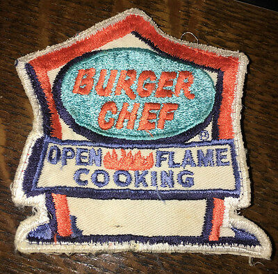 Vintage 1950'S Burger Chef Embroidered Cloth Uniform Patch