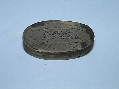 Antique Pill Tin-Box  Wm Waght Pills Wooden Box Philda