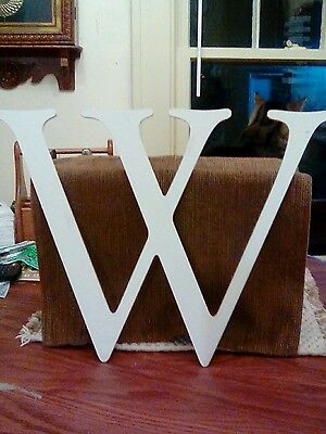 """Aluminum letter """"W"""" salvage 14 inches tall"""