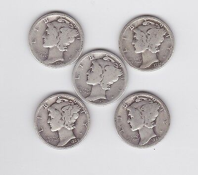 5 Dimes From The 1920,s