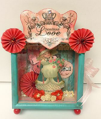 ❤paper*enchantments❤by*erinrose*Vintage Altered Art Valentines Day Assemblage!