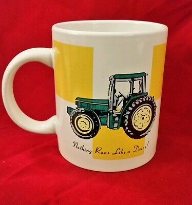 "John Deere Officially Licensed Coffee Cup Mug Gibson ""Nothing Runs Like a Deere!"