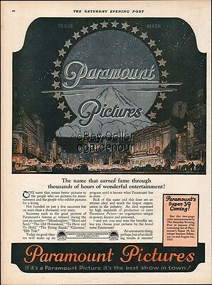 1923 Paramount Motion Pictures Famous Players Lasky 39 Movie Releases Ad