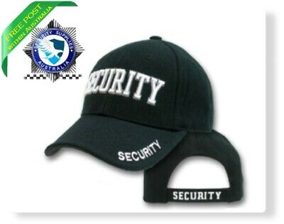 Security Cap - HI VIS - Black - NEW
