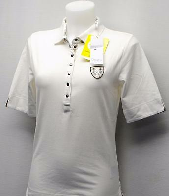 New Ladies Daily Sports cream cotton spandex shirt golf top XS