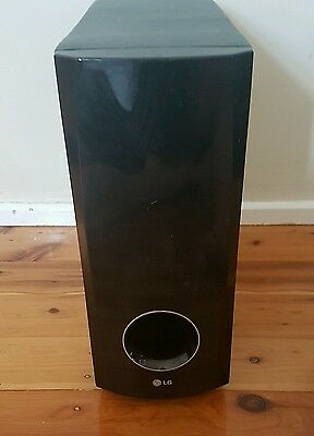 LG 450W SUBWOOFER HOME THEATRE SPEAKER SYSTEM little water damage on wood