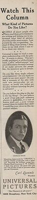 1923 Charles Mack Silent Film Actor Driven Universal Pictures Movie Vintage Ad