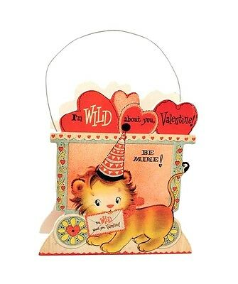Bethany Lowe Wild About You Lion Bucket Circus Wagon