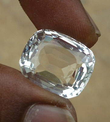 28.10 Ct Natural untreated topaz colorless white cushion cut loose gemstones