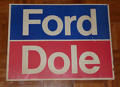 President Gerald Ford & Bob Dole 1976 Presidential  Campaign Poster Sign