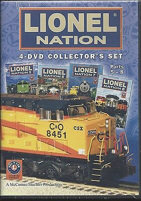 LIONEL NATION: 4-DVD Collector's Set -- Parts 5-8 -- Over 4 hours (NEW)