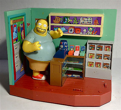 "Simpson's Interactive Play Set: ""Comic Book Shop"" w/ Comic Book Guy.2001"
