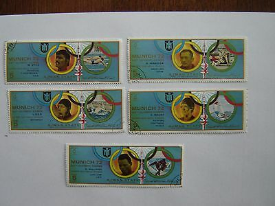 5  Ajman State Stamps 1972 Munich Games