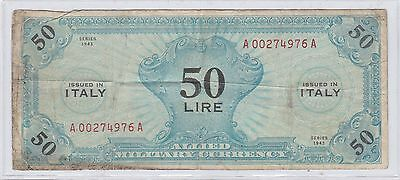 Allied Military Currency 50 Lira
