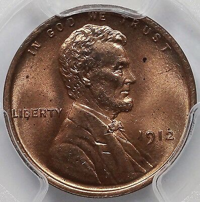 1912 1C Lincoln Cent PCGS MS 65 RD