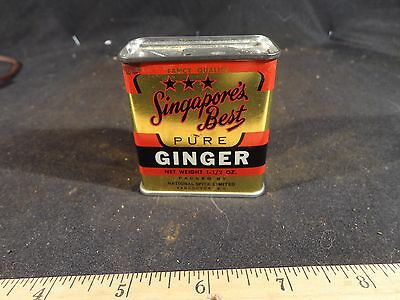 Vintage Singapore's Best Ginger Spice Tin Vancouver Canada