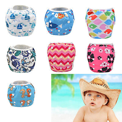 Lovely Baby Swim Diaper Nappy Pants Adjuatable Reusable Infant Toddler Gifts